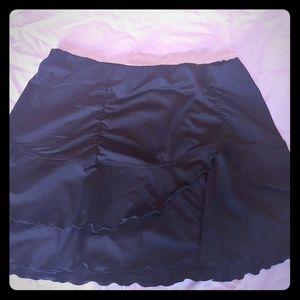 Athleta black mini skirt with ruffles
